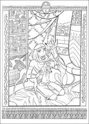 plansa de colorat printul egiptului de colorat p09
