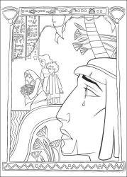 plansa de colorat printul egiptului de colorat p10