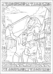 plansa de colorat printul egiptului de colorat p12