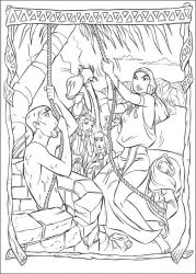plansa de colorat printul egiptului de colorat p17