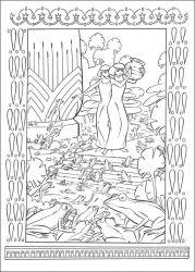 plansa de colorat printul egiptului de colorat p24