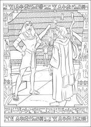 plansa de colorat printul egiptului de colorat p26