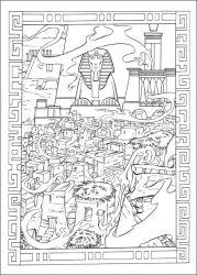 plansa de colorat printul egiptului de colorat p27
