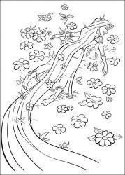 plansa de colorat rapunzel de colorat p06