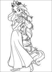 plansa de colorat rapunzel de colorat p15