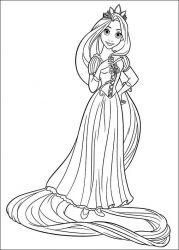 plansa de colorat rapunzel de colorat p18