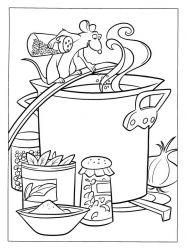 plansa de colorat ratatouille de colorat p06