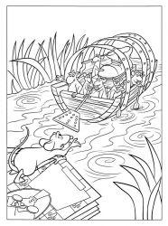 plansa de colorat ratatouille de colorat p31