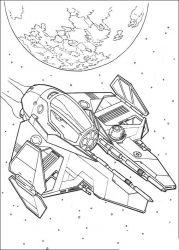 plansa de colorat razboiul stelelor de colorat p136