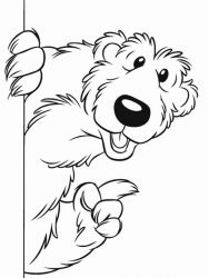 plansa de colorat rupert bear de colorat p02