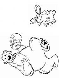plansa de colorat rupert bear de colorat p07