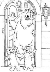 plansa de colorat rupert bear de colorat p12