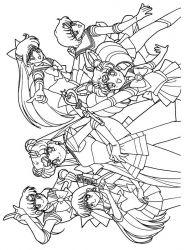 plansa de colorat sailor moon de colorat p14