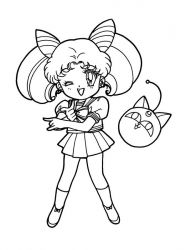 plansa de colorat sailor moon de colorat p18