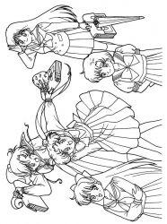 plansa de colorat sailor moon de colorat p28