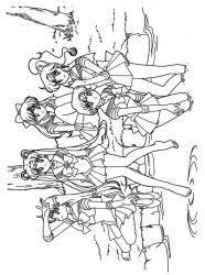 plansa de colorat sailor moon de colorat p40