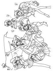 plansa de colorat sailor moon de colorat p45