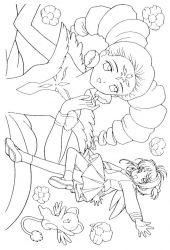 plansa de colorat sakura de colorat p15