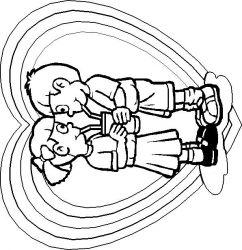 plansa de colorat sfantul valentin de colorat p10