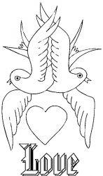 plansa de colorat sfantul valentin de colorat p12