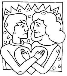 plansa de colorat sfantul valentin de colorat p21