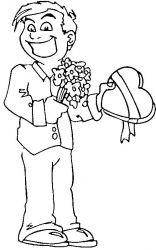 plansa de colorat sfantul valentin de colorat p26