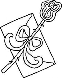 plansa de colorat sfantul valentin de colorat p44