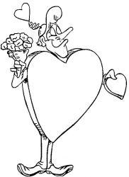 plansa de colorat sfantul valentin de colorat p54