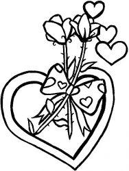 plansa de colorat sfantul valentin de colorat p62