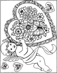 plansa de colorat sfantul valentin de colorat p64