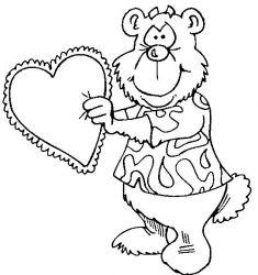 plansa de colorat sfantul valentin de colorat p71