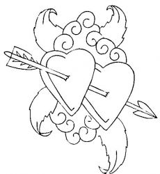 plansa de colorat sfantul valentin de colorat p72