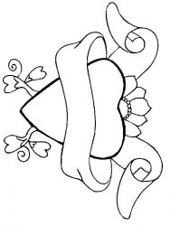 plansa de colorat sfantul valentin de colorat p79
