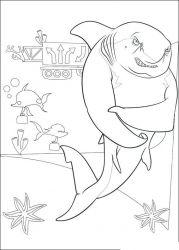 plansa de colorat shark tale de colorat p02