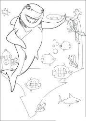 plansa de colorat shark tale de colorat p06