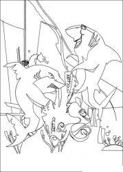plansa de colorat shark tale de colorat p13