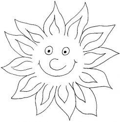 plansa de colorat soarele de colorat p05