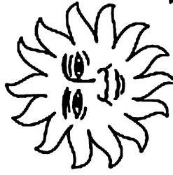 plansa de colorat soarele de colorat p06