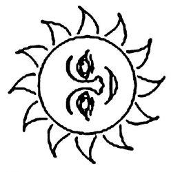 plansa de colorat soarele de colorat p08