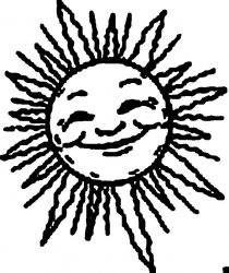 plansa de colorat soarele de colorat p09