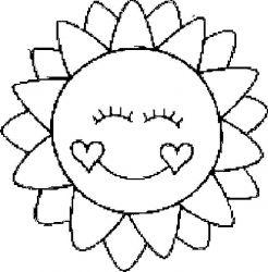 plansa de colorat soarele de colorat p12
