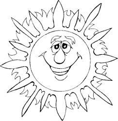 plansa de colorat soarele de colorat p13