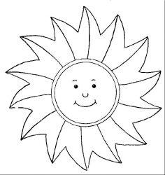 plansa de colorat soarele de colorat p15