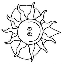 plansa de colorat soarele de colorat p19
