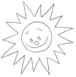 plansa de colorat soarele de colorat p21