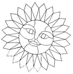 plansa de colorat soarele de colorat p22