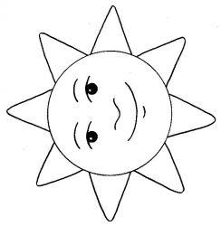 plansa de colorat soarele de colorat p23