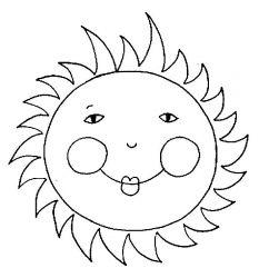 plansa de colorat soarele de colorat p25