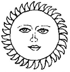 plansa de colorat soarele de colorat p30