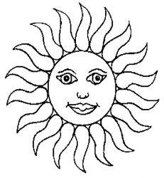 plansa de colorat soarele de colorat p31